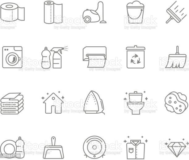 Set of 20 cleaning line icons vector id827511798?b=1&k=6&m=827511798&s=612x612&h=hc bnvygjda99ywzhudufpqoce nuwudnb6red7nz0a=