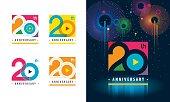 istock Set of 20th Anniversary logotype design, Twenty years Celebrating Anniversary Sign 1203969890