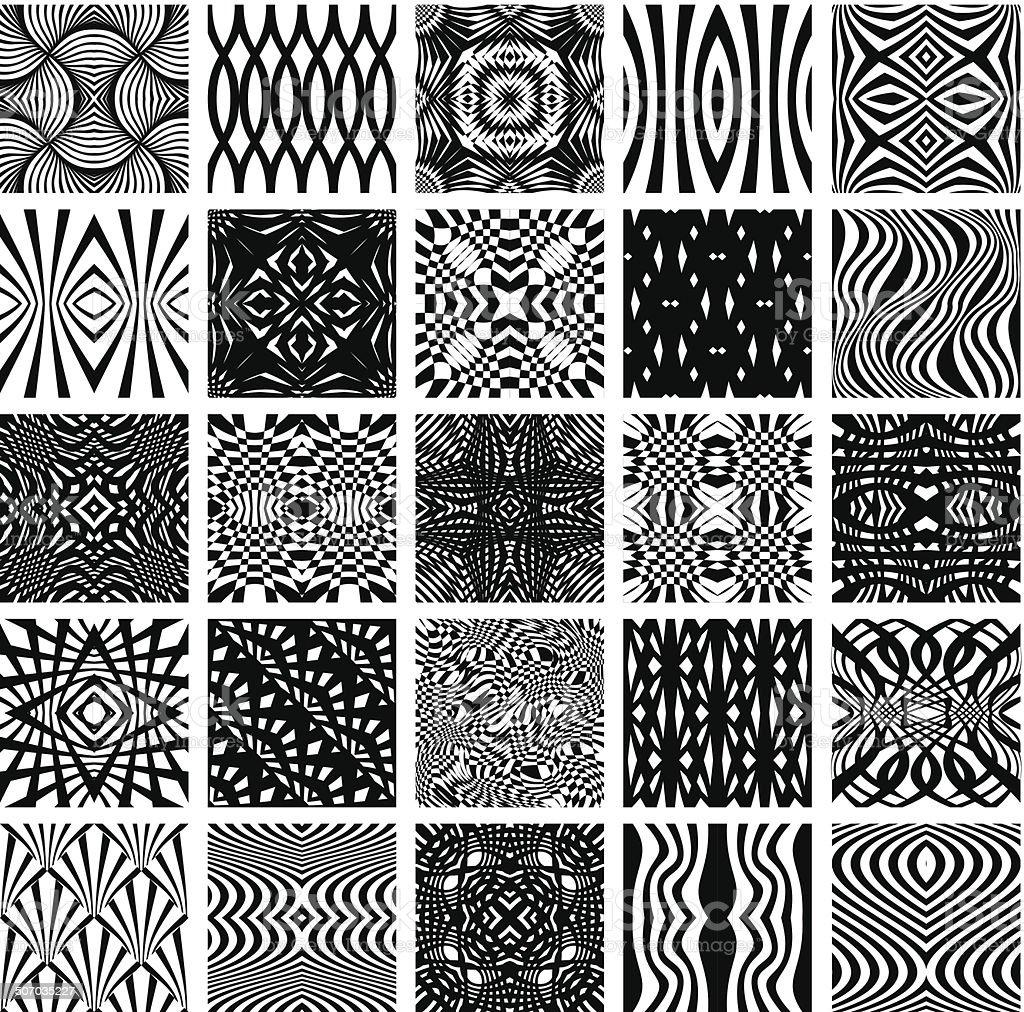 Disegni Geometrici Bianco E Nero set di 25 bianco e nero motivi geometrici senza soluzione di