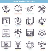 Set of 25 icons for software development