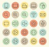 Set of 25 Multimedia Icons.