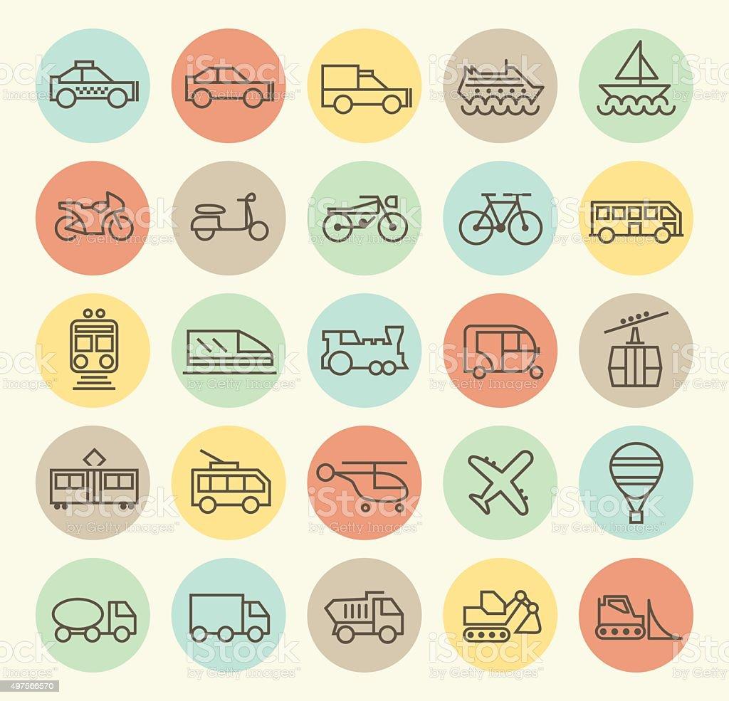 Set of 25 Transport Icons.