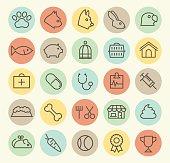 Set of 25 Veterinary Icons.