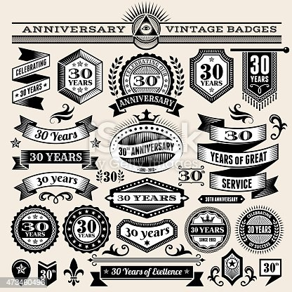 25 year annniversary hand-drawn royalty free vector background on paper. This image depicts a paper background with multiple anniversary announcement designs. The beige paper background serves a perfect backdrop for making the anniversary announcements look authentic and elegant. The hand-drawn design are unique and intricate in design and are ideal for your anniversary design announcements.
