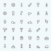 Set of 36 Tool icons