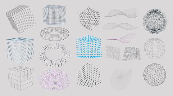 3d 요소 집합 0명에 대한 스톡 벡터 아트 및 기타 이미지