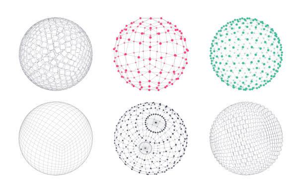 Set of 3D Elements vector art illustration