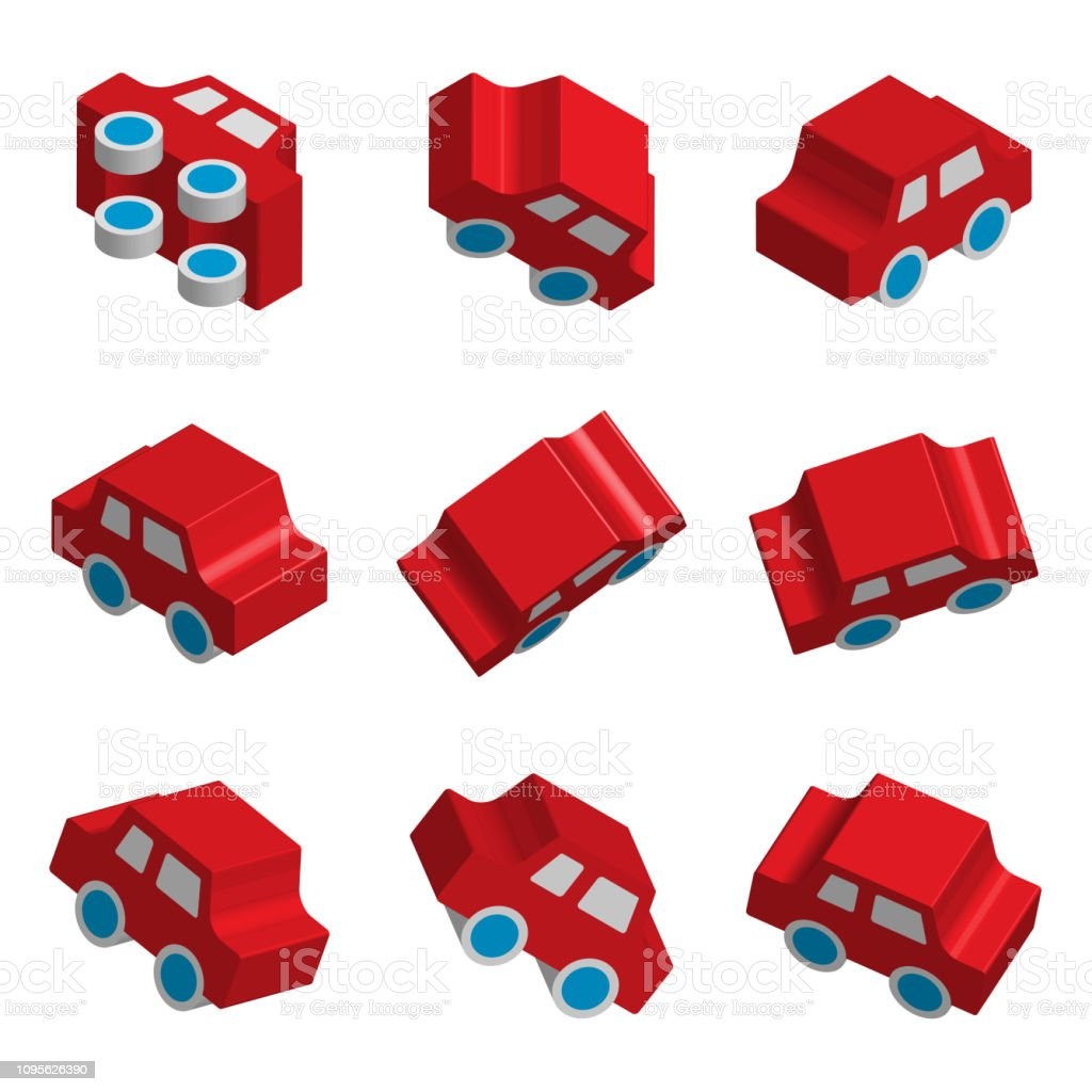 Vector Vecteurs Jeu Voiture Icons De Jouet Isométrique 3d Isolé 7yfb6gYv