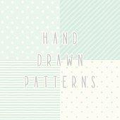 Vector hand drawn seamless patterns