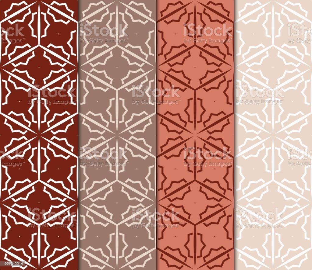 Ilustraci n de set de 4 patrones geom tricos en estilo - Decoracion arabe interiores ...
