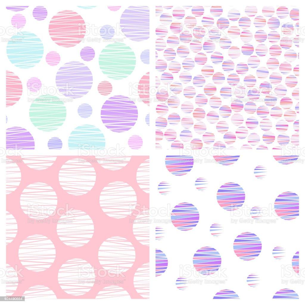 Ilustración de Set De 4 Patrones Geométricos Transparentes Simple ...