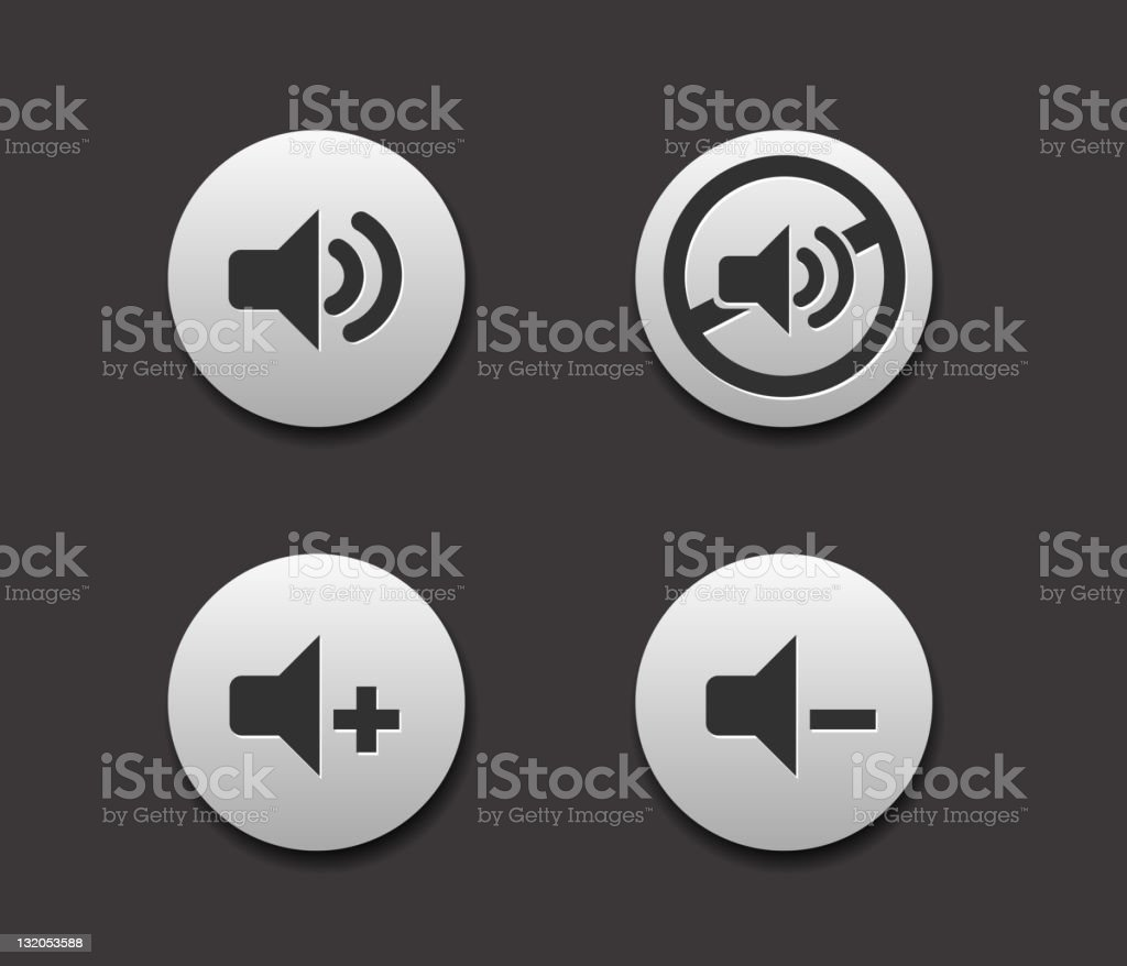 Set of 4 simple web music icons royalty-free stock vector art