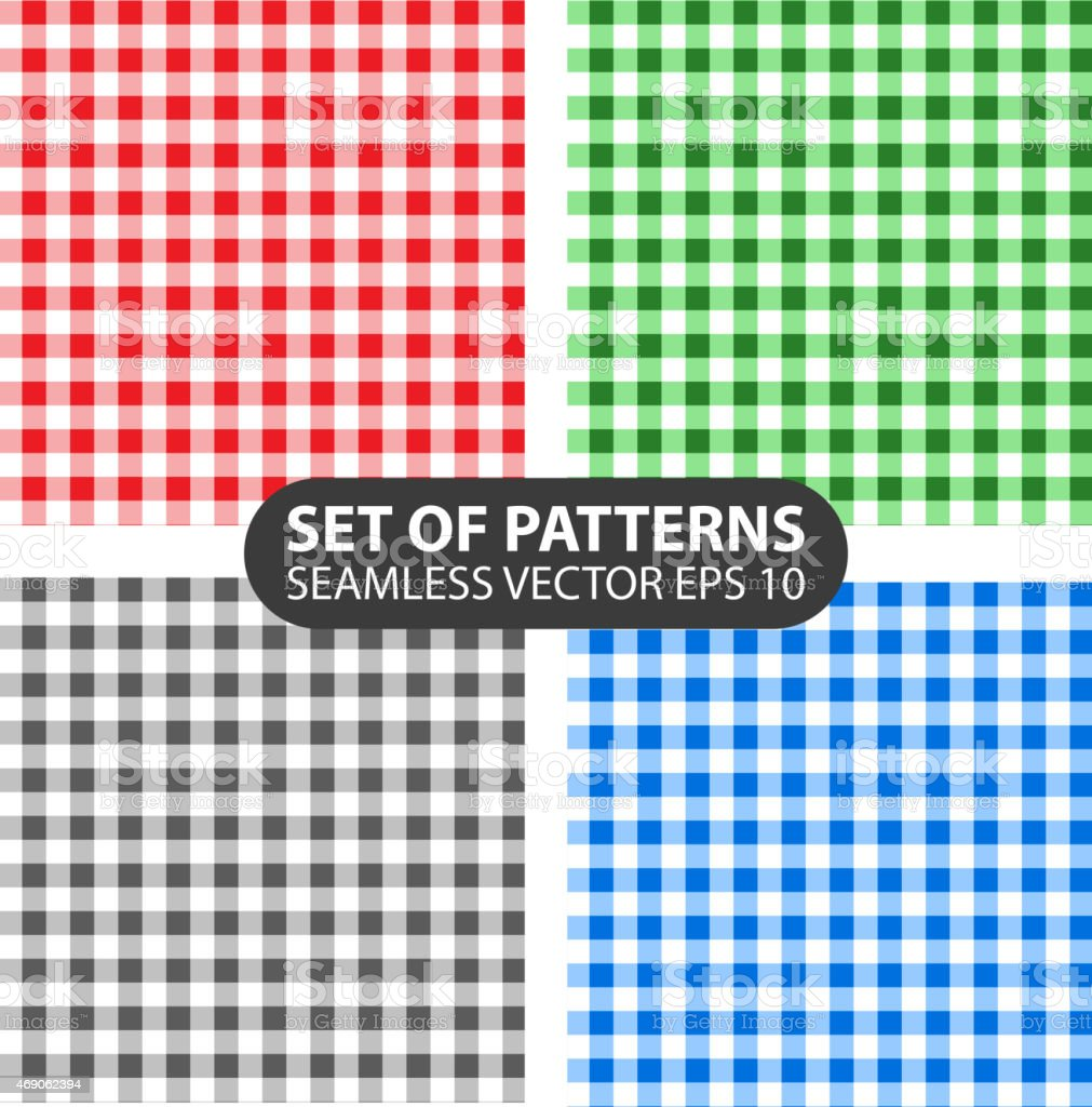set of 4 vector abstract seamless patterns vector art illustration