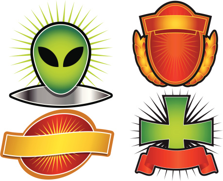Set of 4 Vector Emblems & Crests
