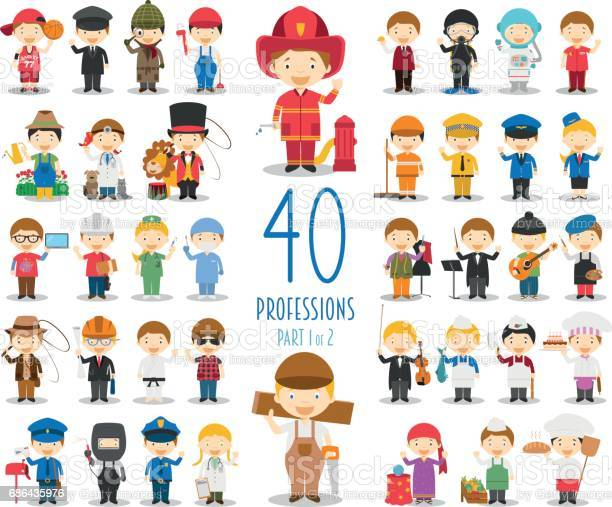 Set of 40 professions in cartoon style vector id686435976?b=1&k=6&m=686435976&s=612x612&h=ifvm7zswnibpx fq1fkekejxpb8lysjnxka55pv9hze=