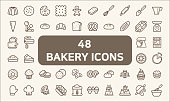Contains such Icons as cookie, pudding, oven, kitchen tools, doughnut, bread, macaroon, muffin And Other Elements.  customize color, easy resize.