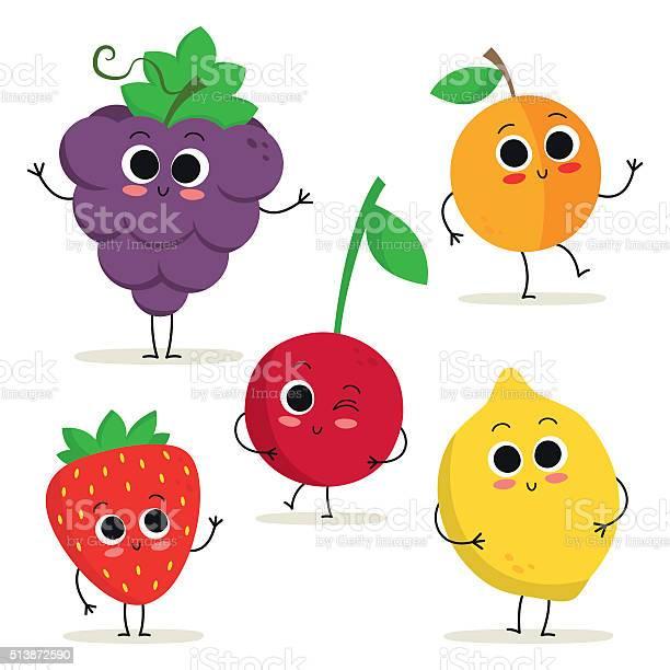 Set of 5 cute cartoon fruit characters isolated on white vector id513872590?b=1&k=6&m=513872590&s=612x612&h=pqmlsmy8db6gan4bp7gdyc5dbajcjhnypctzihnswcs=