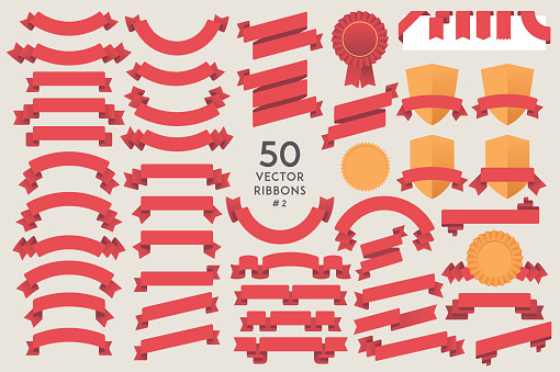 Ribbon stock illustrations