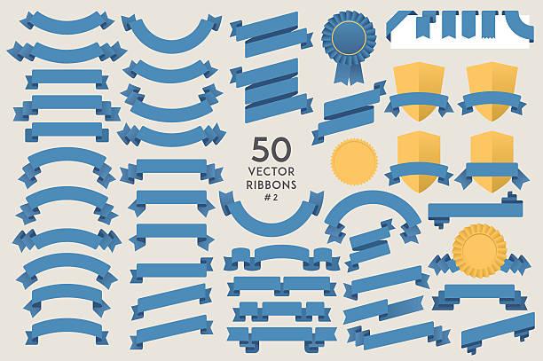 Set of 50 vector Ribbons #2 – Vektorgrafik