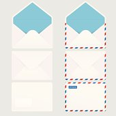 Set of 6 envelope icons