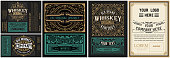 istock Set of 6 vintage labels for packing 1224449029