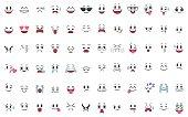 A set of 72 emotions.