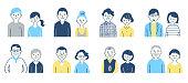 men, women, Japanese, couple,  family