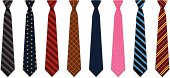Set of 8 illustrated neck ties