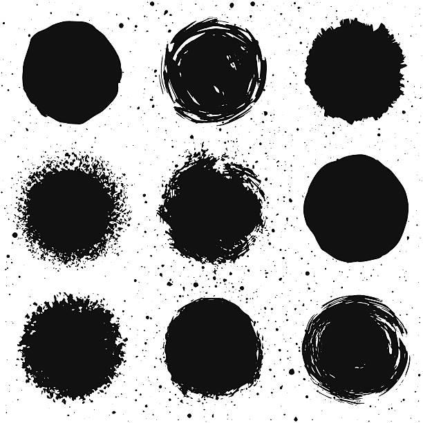 set of 9 background shapes vector art illustration