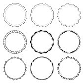 Set of 9 circle design frames