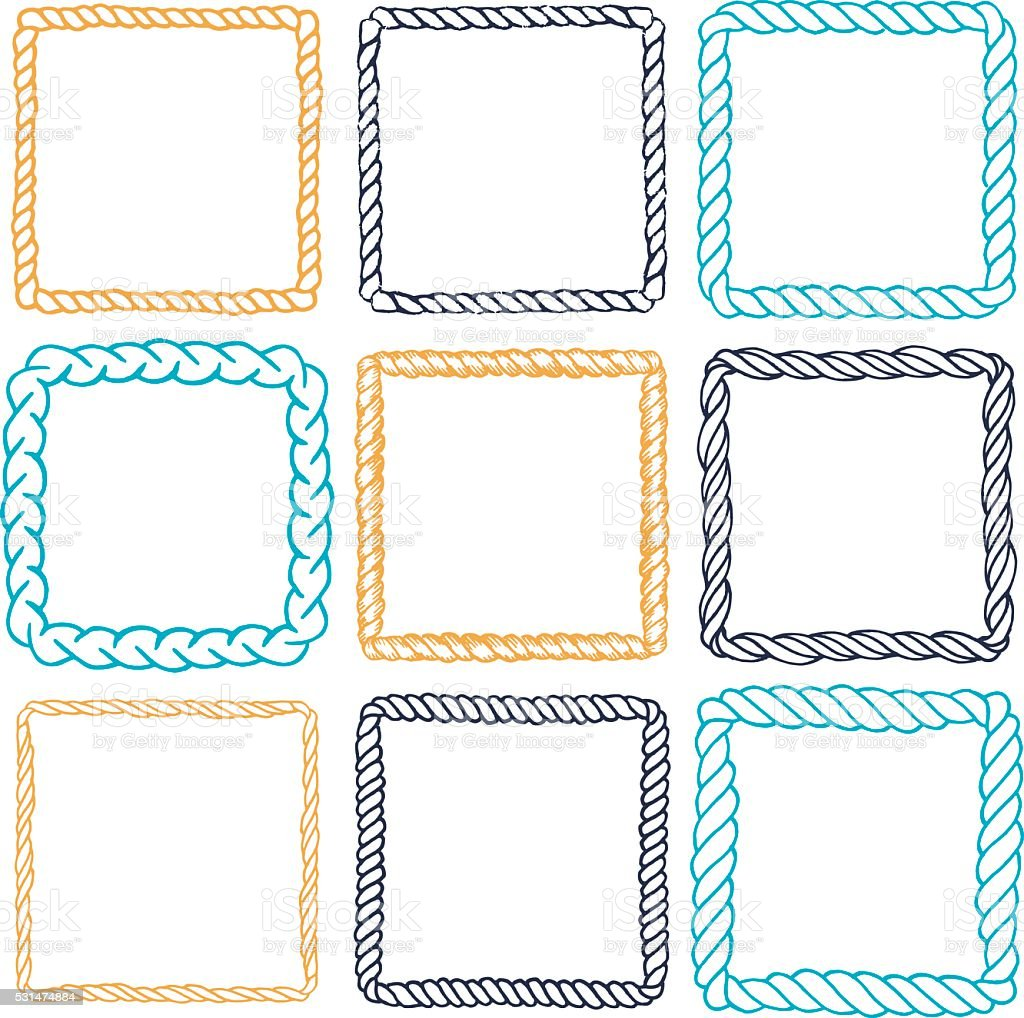 set of 9 decorative square border frames stock vector art more