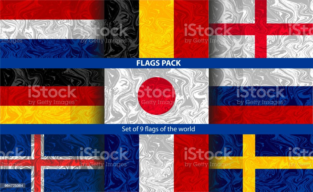 Set of 9 national flags with the effect of fading paint in the water. royalty-free set of 9 national flags with the effect of fading paint in the water stock vector art & more images of abstract
