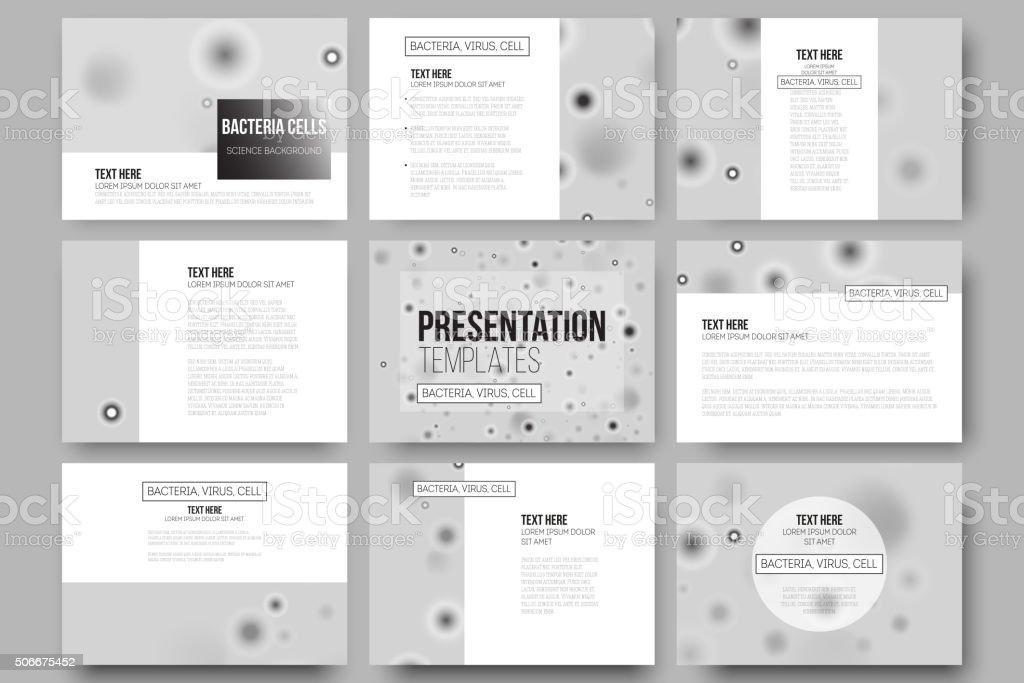 Juego De 9 Vector Plantillas Para Diapositivas De La Presentación ...