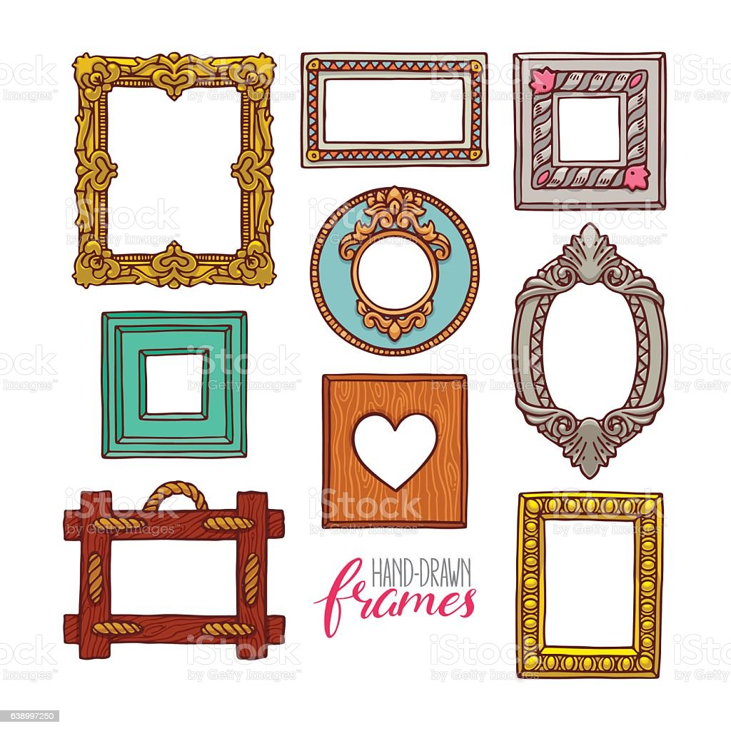 Set Of A Different Frames stock vector art 638997250 | iStock