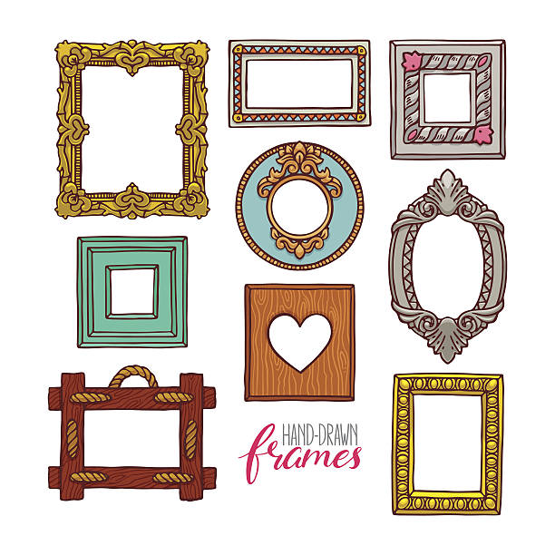 Gold Oval Frame Cartoon Clip Art Vector Images Illustrations