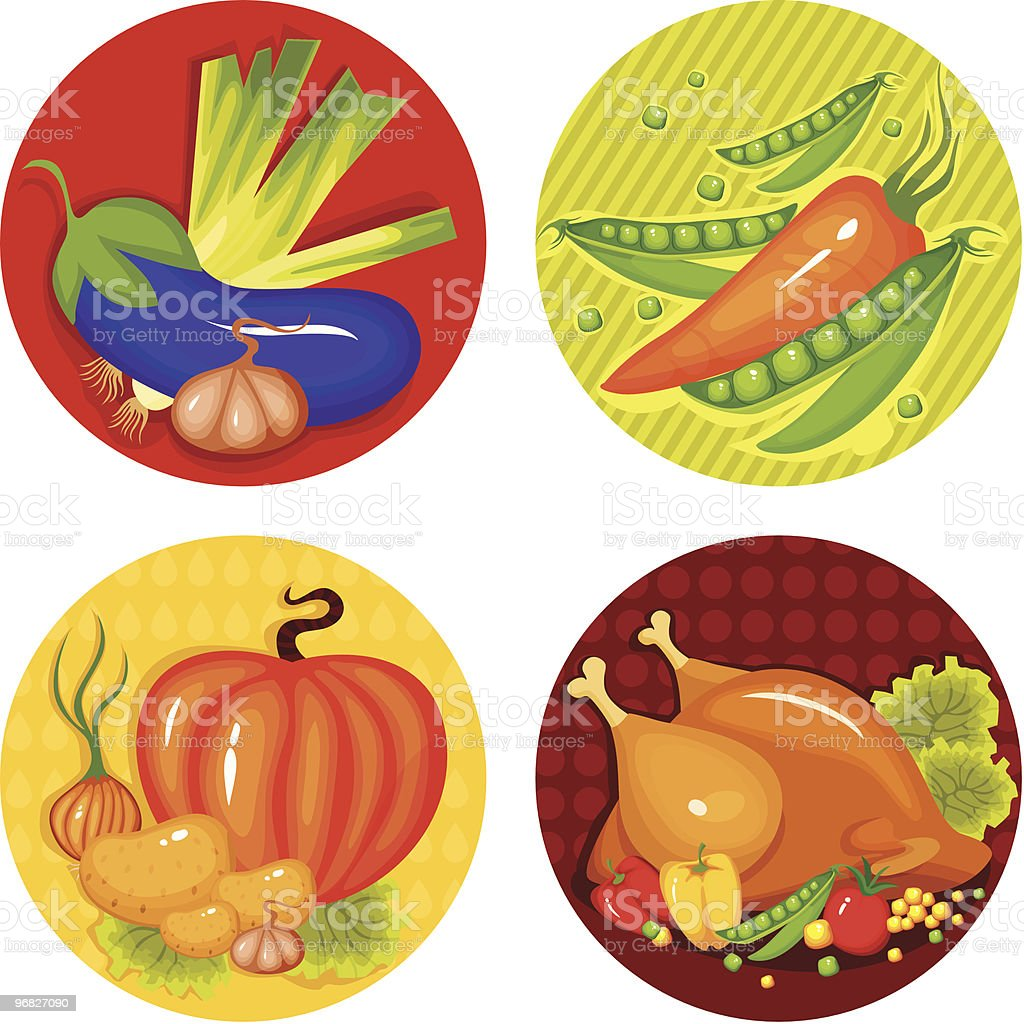 set of a thankgiving icons royalty-free stock vector art