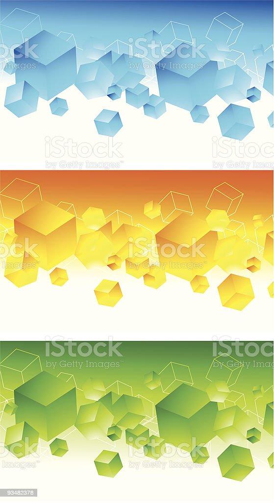 세트마다 추상적임 3d 다채로운 배너 - 로열티 프리 0명 벡터 아트