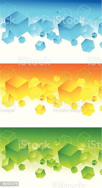 세트마다 추상적임 3d 다채로운 배너 0명에 대한 스톡 벡터 아트 및 기타 이미지