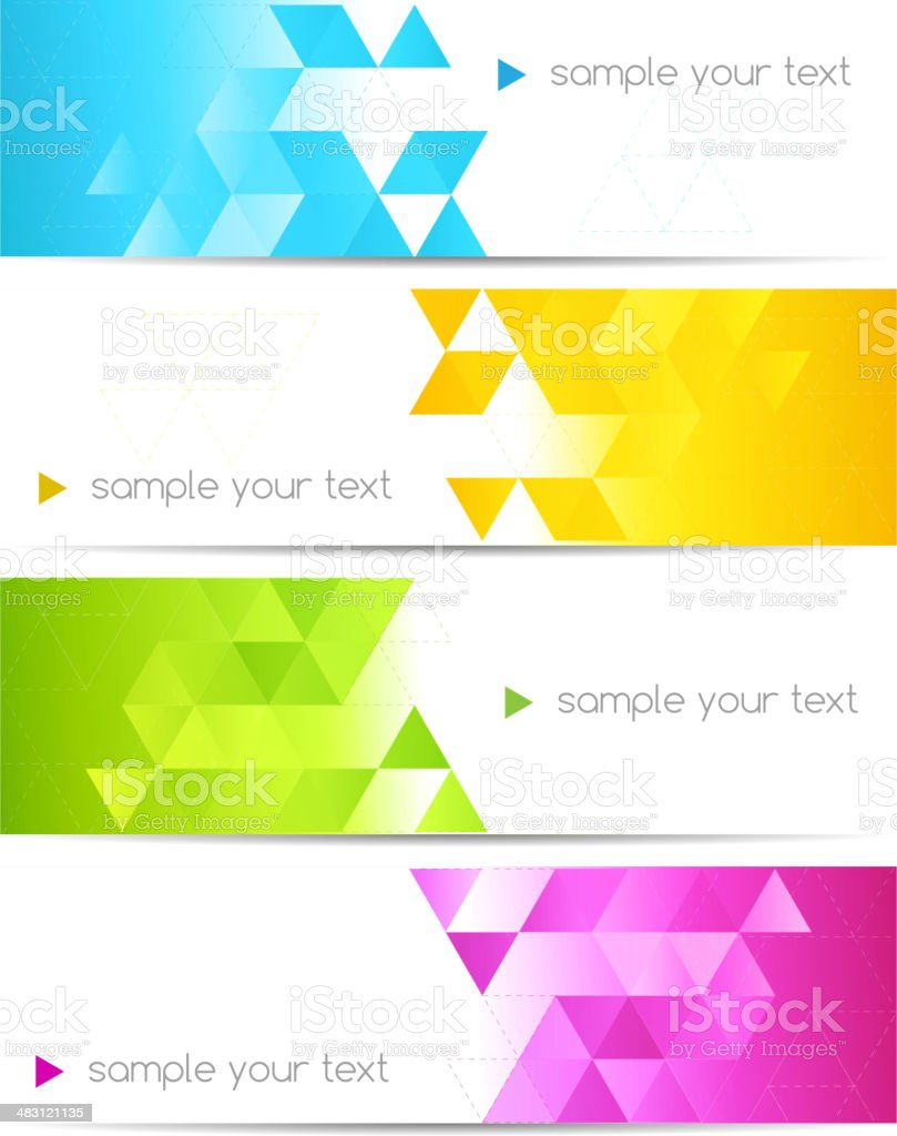 Set of abstract backgrounds with diamond motif vector art illustration