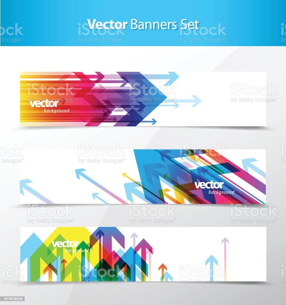 Conjunto de banner abstrato e planos de fundo do cartão. - ilustração de arte em vetor