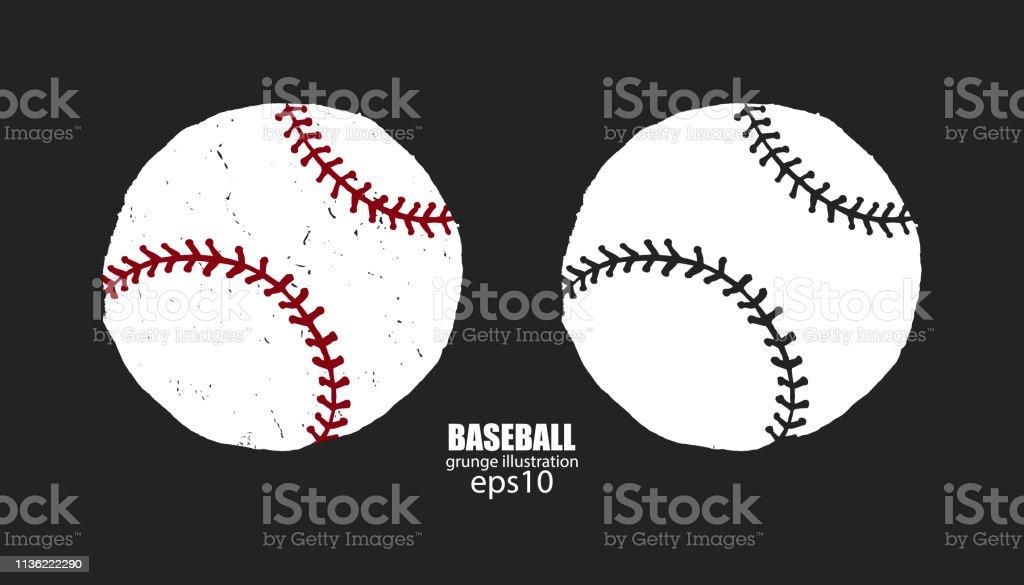 Grunge baseball balls