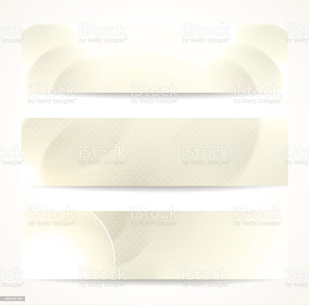 Set of abstract beige vector headers or banners. vector art illustration