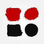 Set of abstract blots. Grunge, sketch, graffiti, paint, ink.