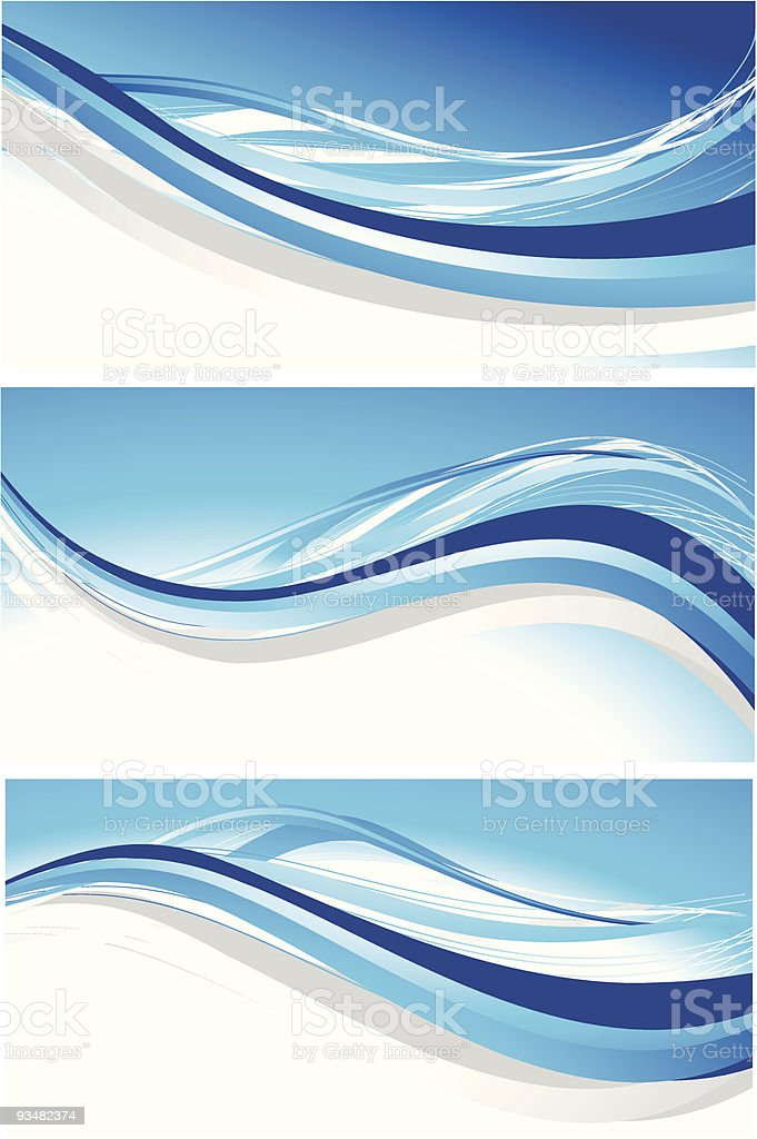 Set of abstract blue banners royalty-free stock vector art