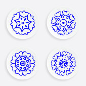 set of abstract blue plate pattern for design.(ai eps10 with transparency effect)