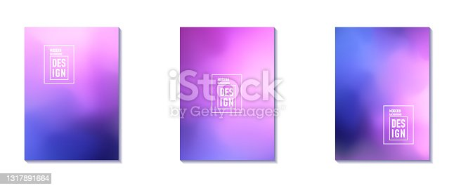 istock Set of Abstract Blur Defocused Colorful Background. Abstract design template for brochures, flyers, magazine, business card, branding, banners, headers, book covers, notebooks background vector 1317891664