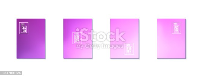 istock Set of Abstract Blur Defocused Colorful Background. Abstract design template for brochures, flyers, magazine, business card, branding, banners, headers, book covers, notebooks background vector 1317891680