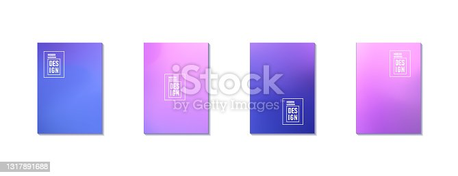 istock Set of Abstract Blur Defocused Colorful Background. Abstract design template for brochures, flyers, magazine, business card, branding, banners, headers, book covers, notebooks background vector 1317891688