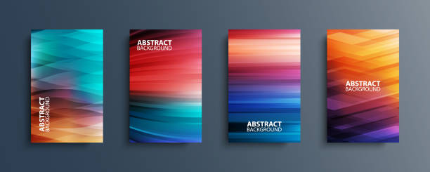 Set of abstract color backgrounds with wave or line patterns. Colorful gradient covers collection for brochures, posters, banners, flyers and cards. vector art illustration