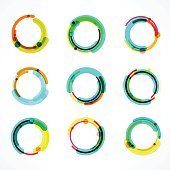 set of abstract color circle icon.EPS10